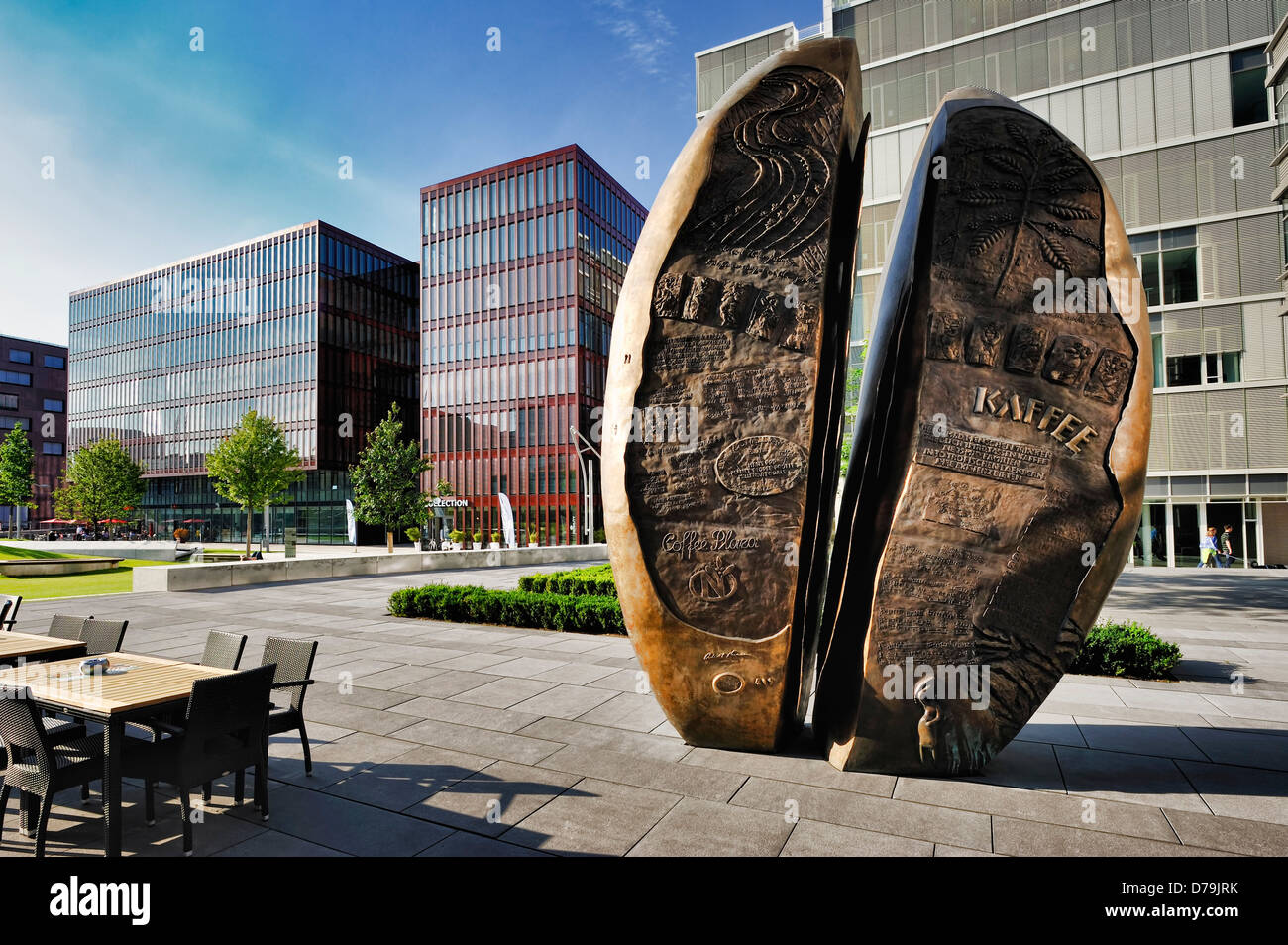 sculpture of a coffee bean in the internationally coffee plaza in the stock photo royalty free. Black Bedroom Furniture Sets. Home Design Ideas