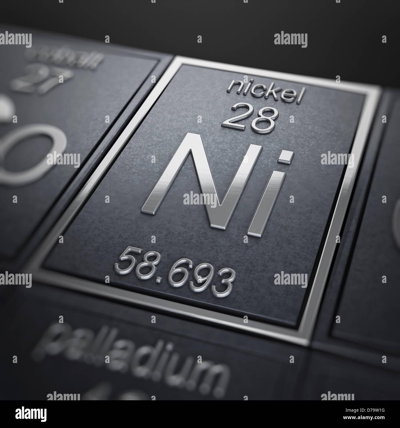Nickel chemical element stock photo 56150908 alamy nickel chemical element buycottarizona Images