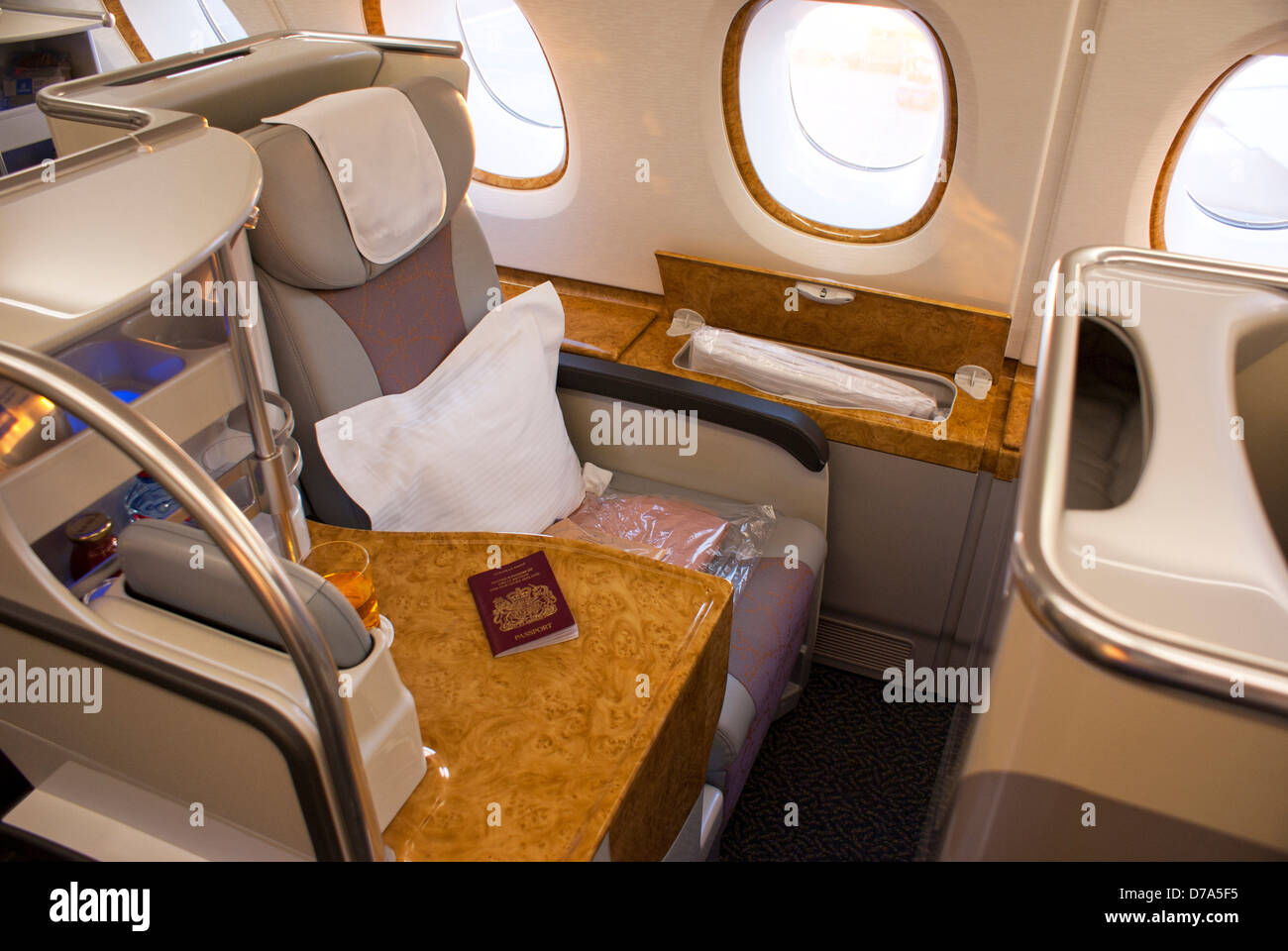 Business Class Seating On Airbus A380 Aircraft Upper Deck
