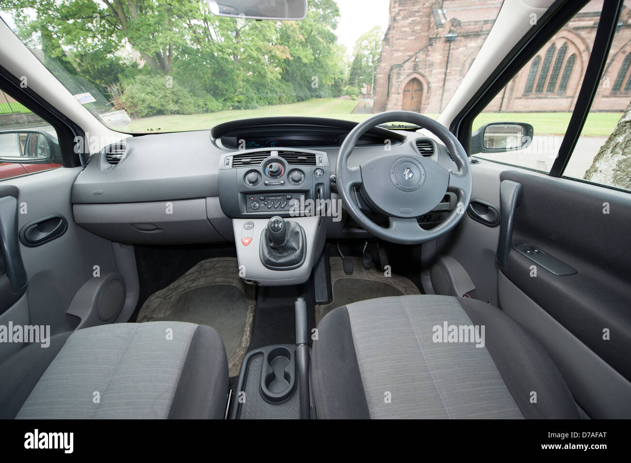 Inside interior of renault scenic car stock photo for Interior renault scenic