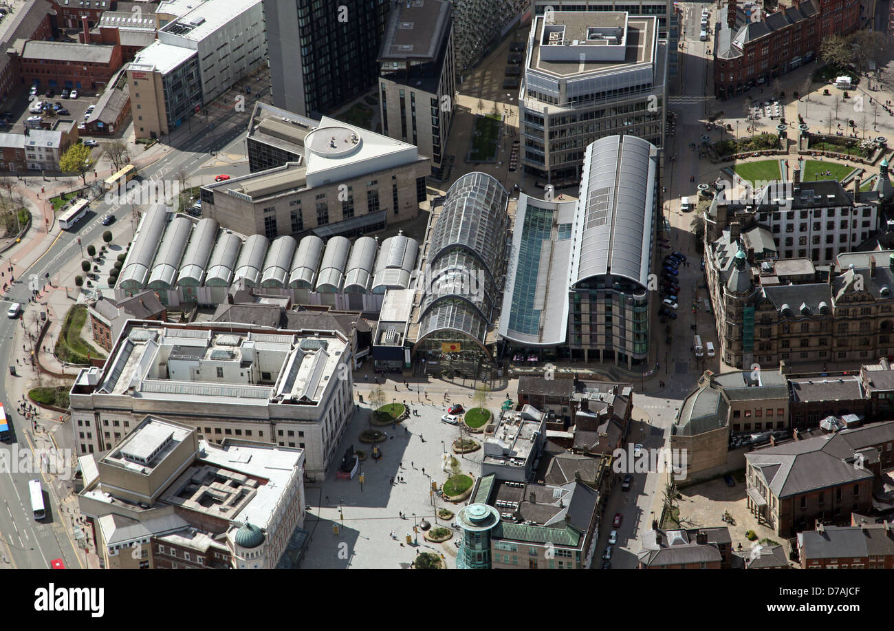 aerial view of sheffield winter garden tudor square sheffield