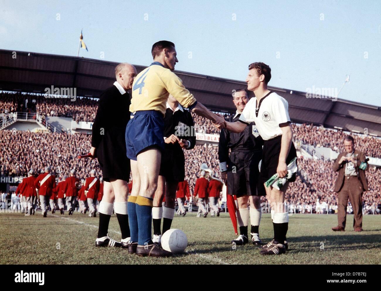 Hans Schaefer r captain of the German national soccer team and