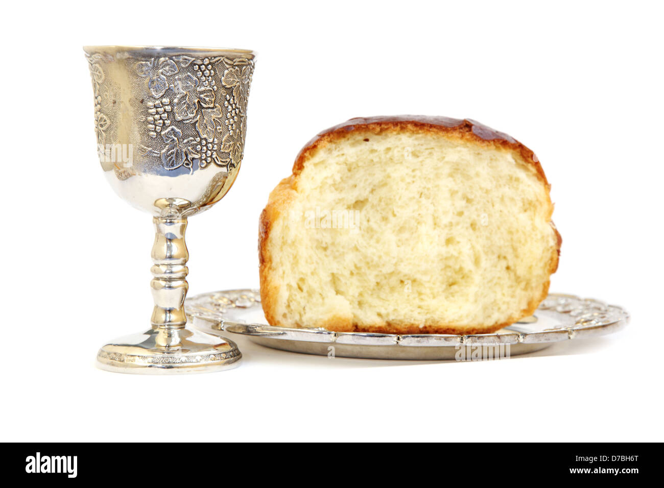 Holy Communion. Bread and cup with wine Stock Photo ...