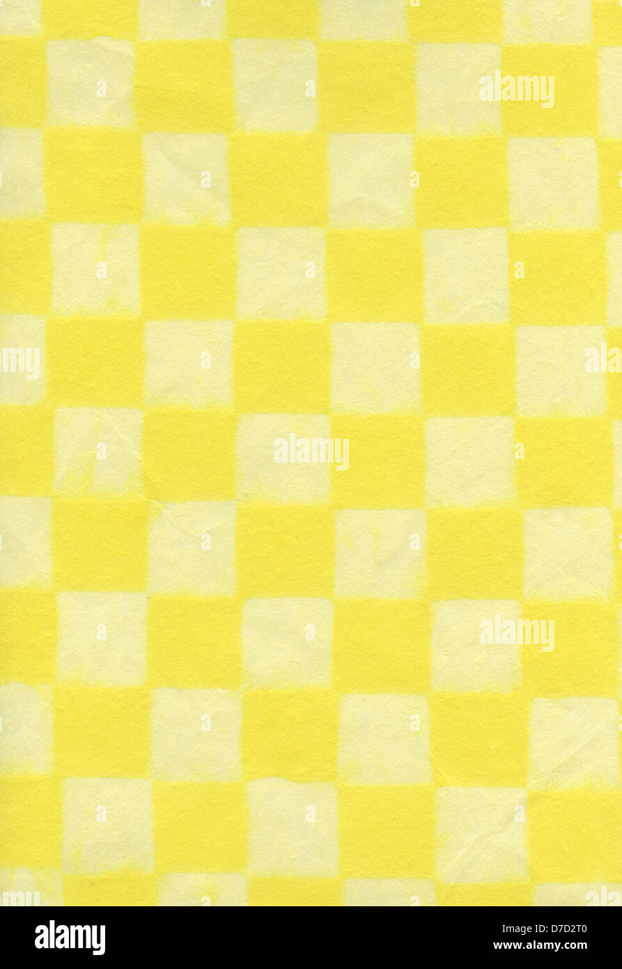 High Resolution Scan Rice Paper Checkered Bright Pastel Yellow Scanned At 1200dpi Using Professional Epson V700 Scanner