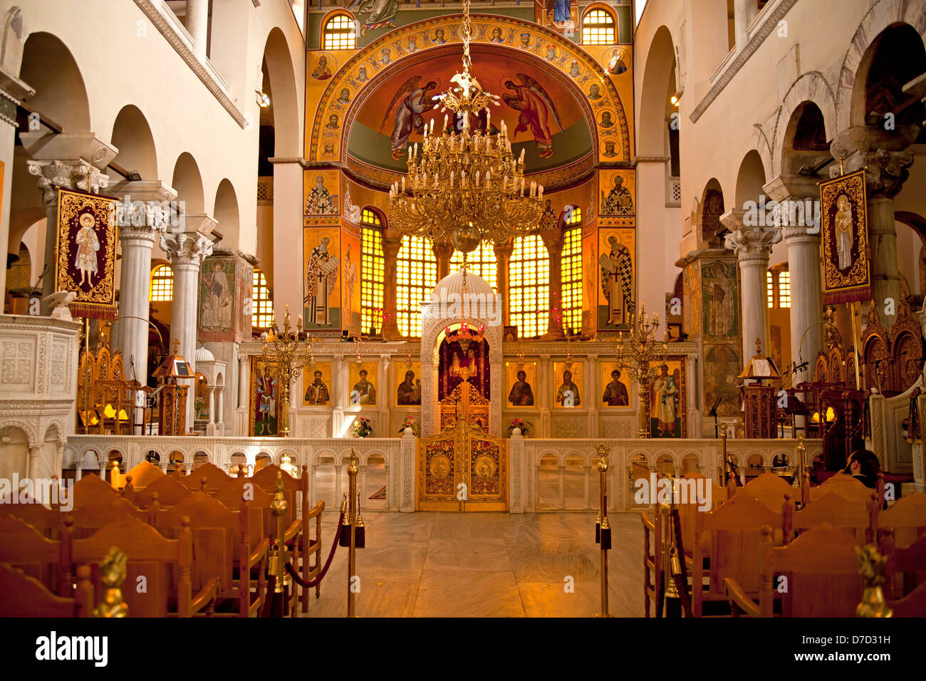 inside The Church of Saint Demetrius, or Hagios Demetrios ...