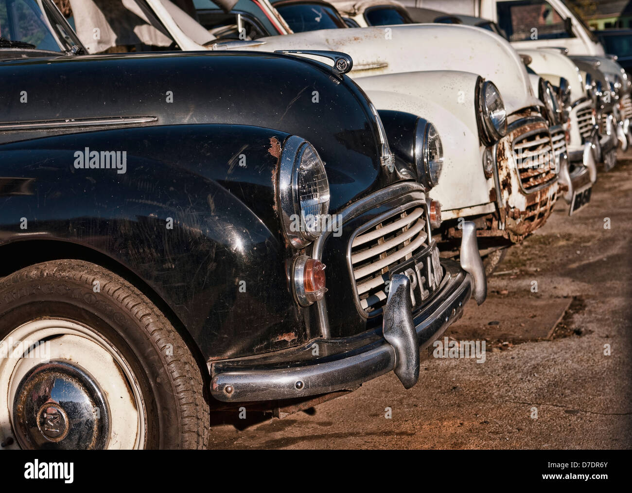 Old Morris Minor Cars for Restoration Stock Photo, Royalty Free ...