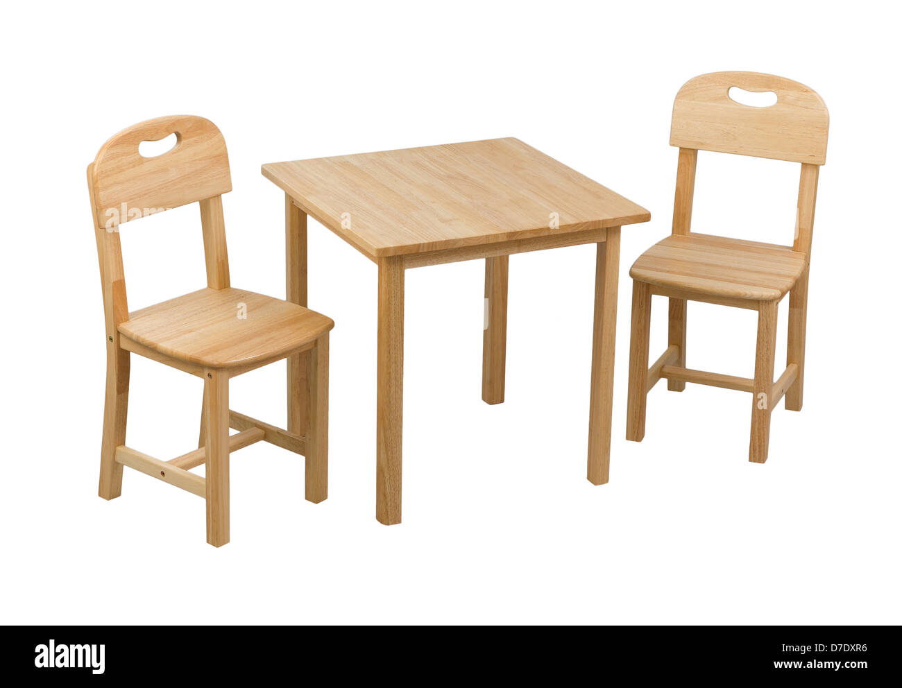 A small wooden chairs and desk for kids stock photo for Small chair for kid