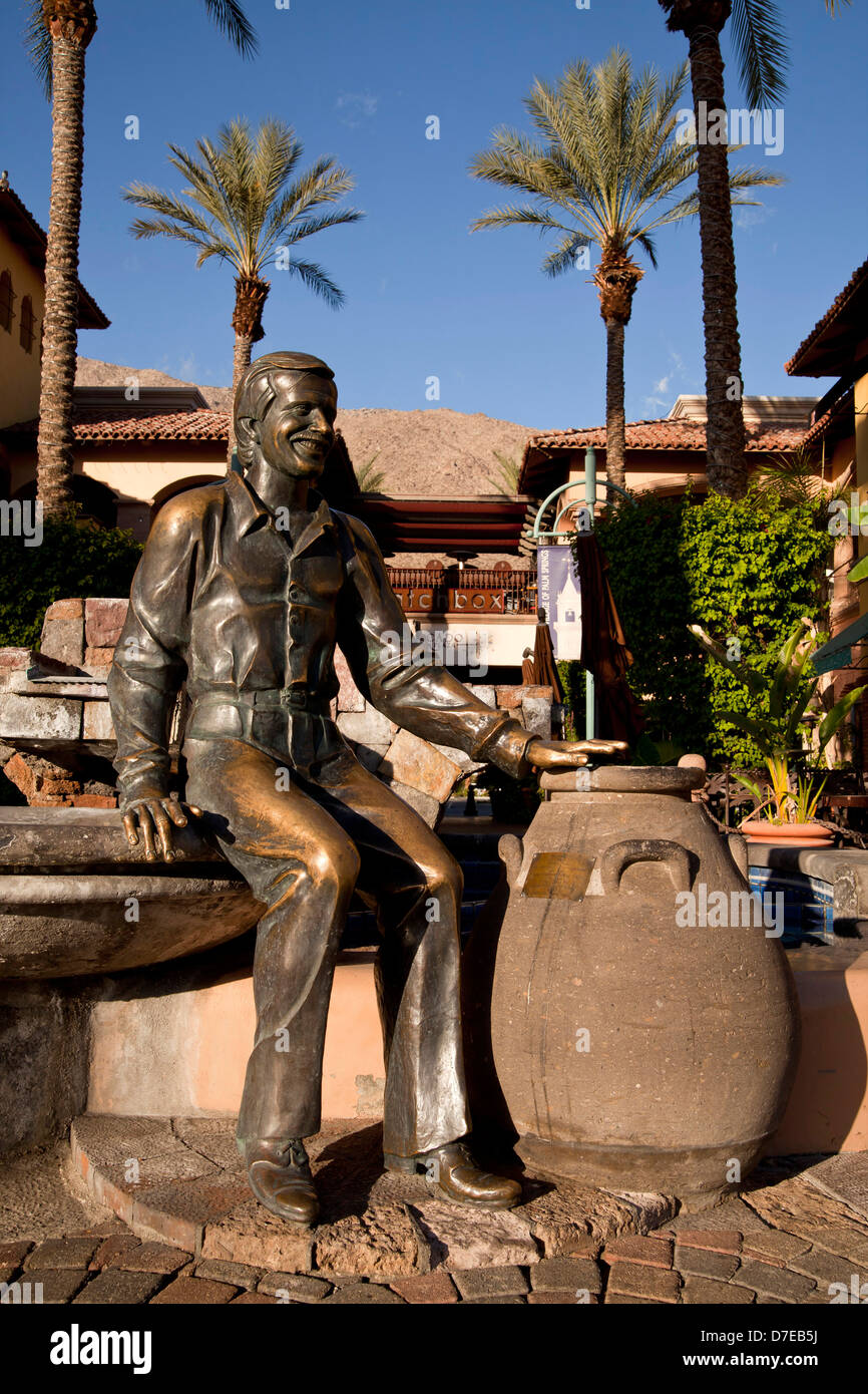 Bronze Statue Of Sonny Bono In Downtown Palm Springs On