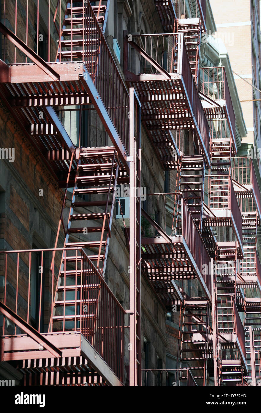Building Fire Escape Stairs Borough New York City Ny