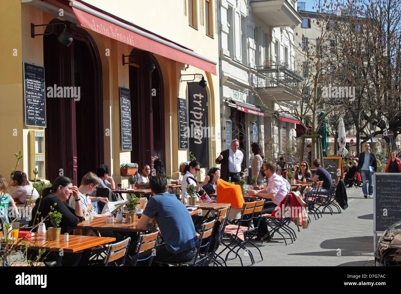 berlin prenzlauer berg cafe knaakstr rykestr stock photo royalty free image 56290708 alamy. Black Bedroom Furniture Sets. Home Design Ideas