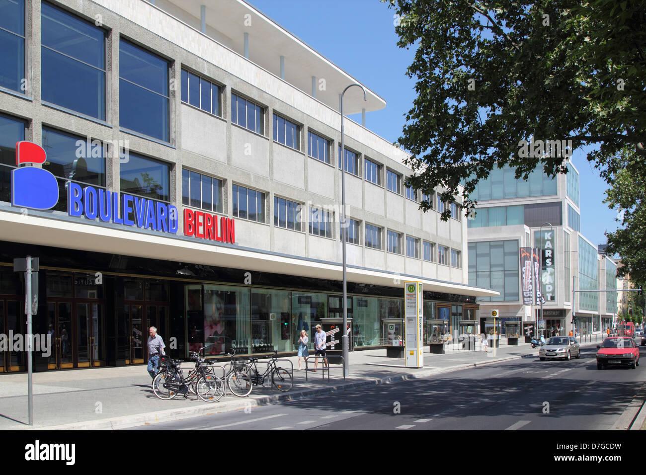 Berlin steglitz boulevard berlin shopping center stock image
