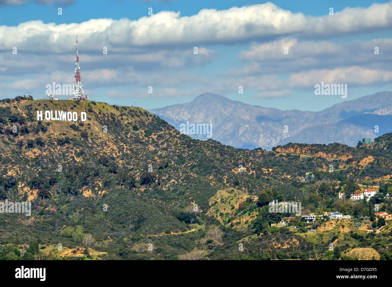 hollywood sign in the hollywood hills west hollywood los. Black Bedroom Furniture Sets. Home Design Ideas