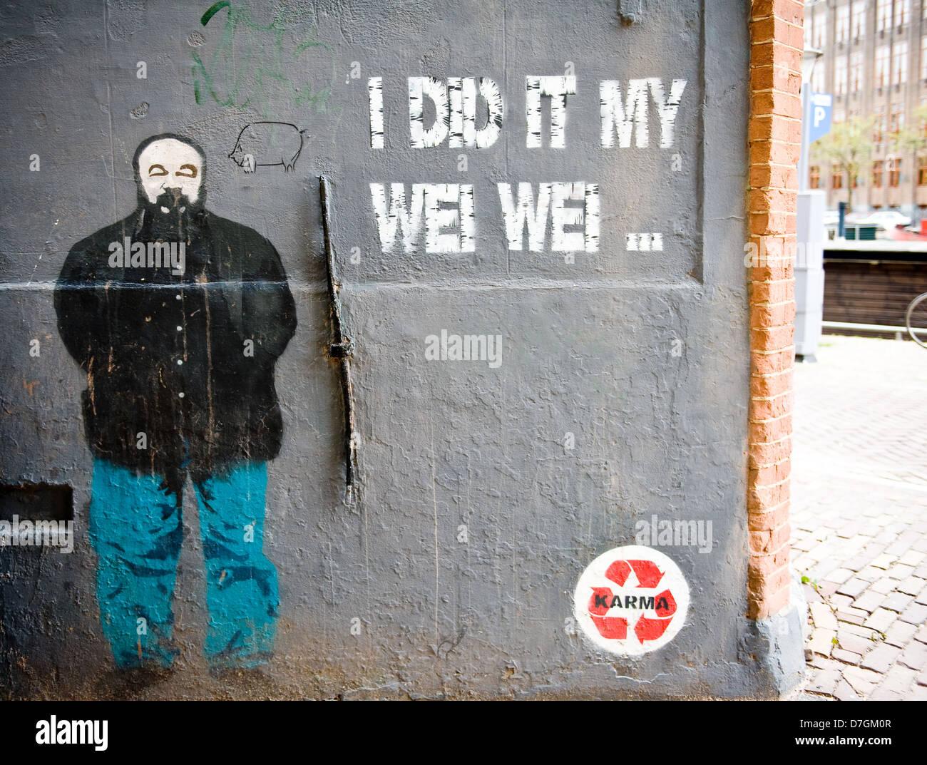 Graffiti wall amsterdam - Graffiti By Street Artist Karma On A Wall In Amsterdam