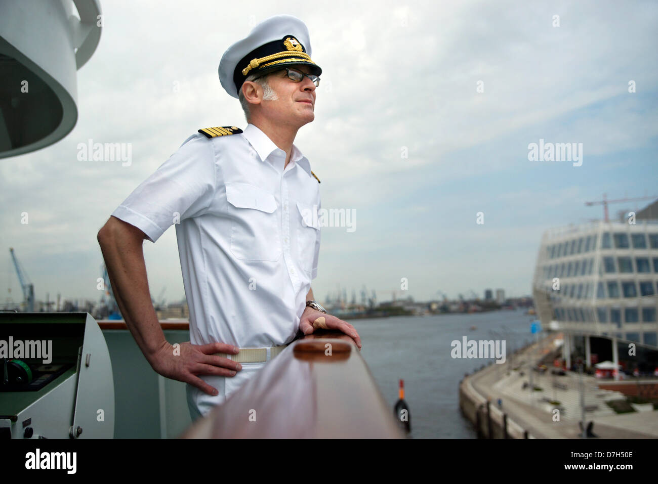 Elmar Muehlebach Captain Of The Cruise Ship Deutschland Stands - How to be a cruise ship captain