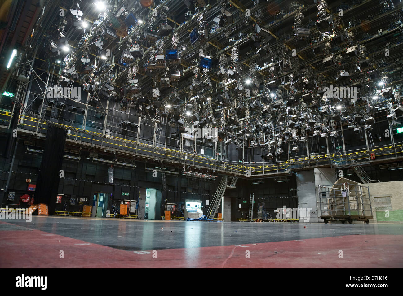 Empty Television Sound Stage With A Large Lighting Grid