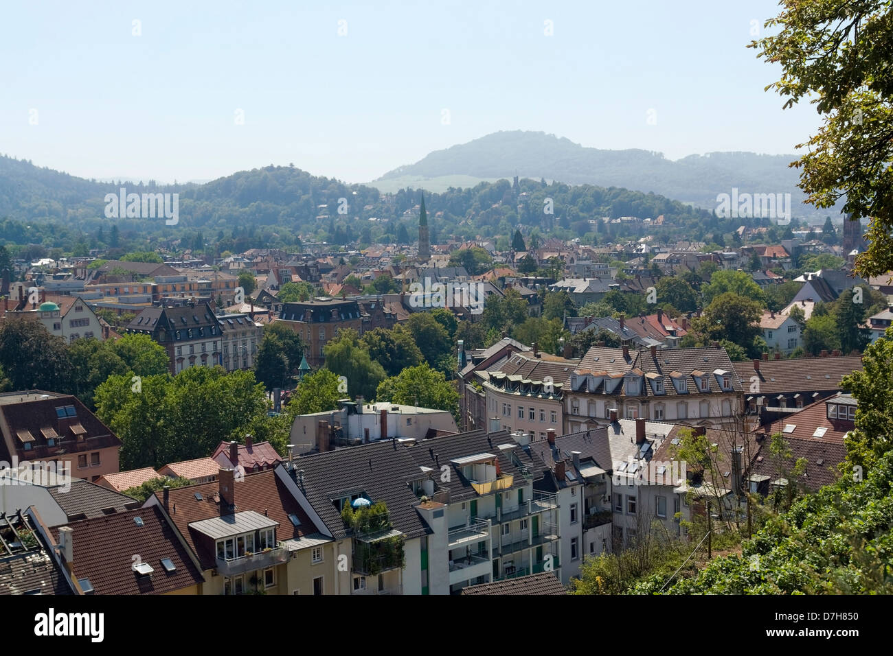 aerial view of freiburg im breisgau a city in southern germany sunny stock photo royalty free. Black Bedroom Furniture Sets. Home Design Ideas