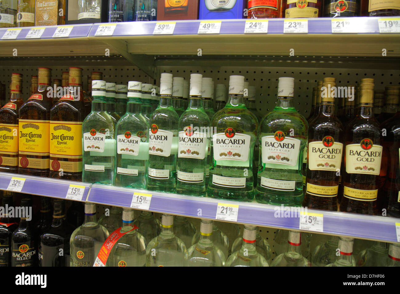 Miami Beach Florida Walgreens Liquor Store Shelves Retail