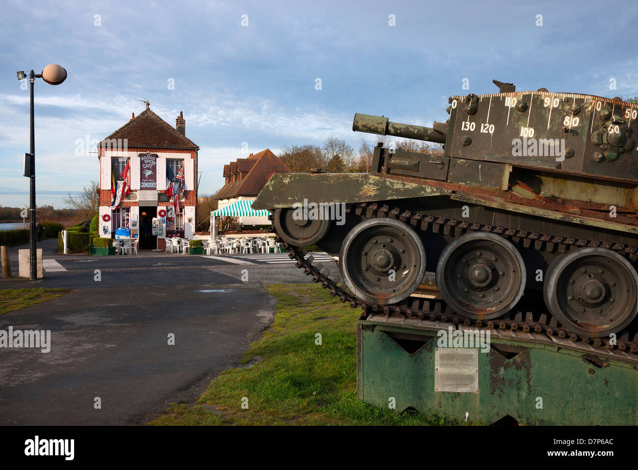 the pegasus bridge cafe near caen in france stock photo royalty free image 56421636 alamy. Black Bedroom Furniture Sets. Home Design Ideas