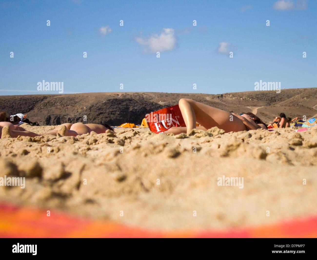 naturist beach lanzarote no one is stock photo royalty free image