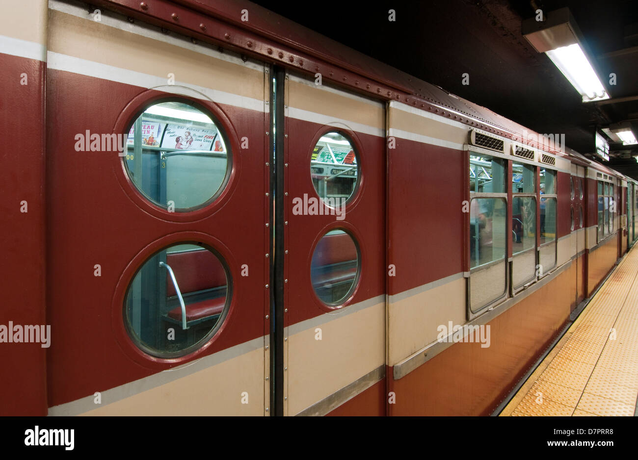 vintage 1940 39 s 1950 39 s subway car operating at grand central stock photo royalty free image. Black Bedroom Furniture Sets. Home Design Ideas