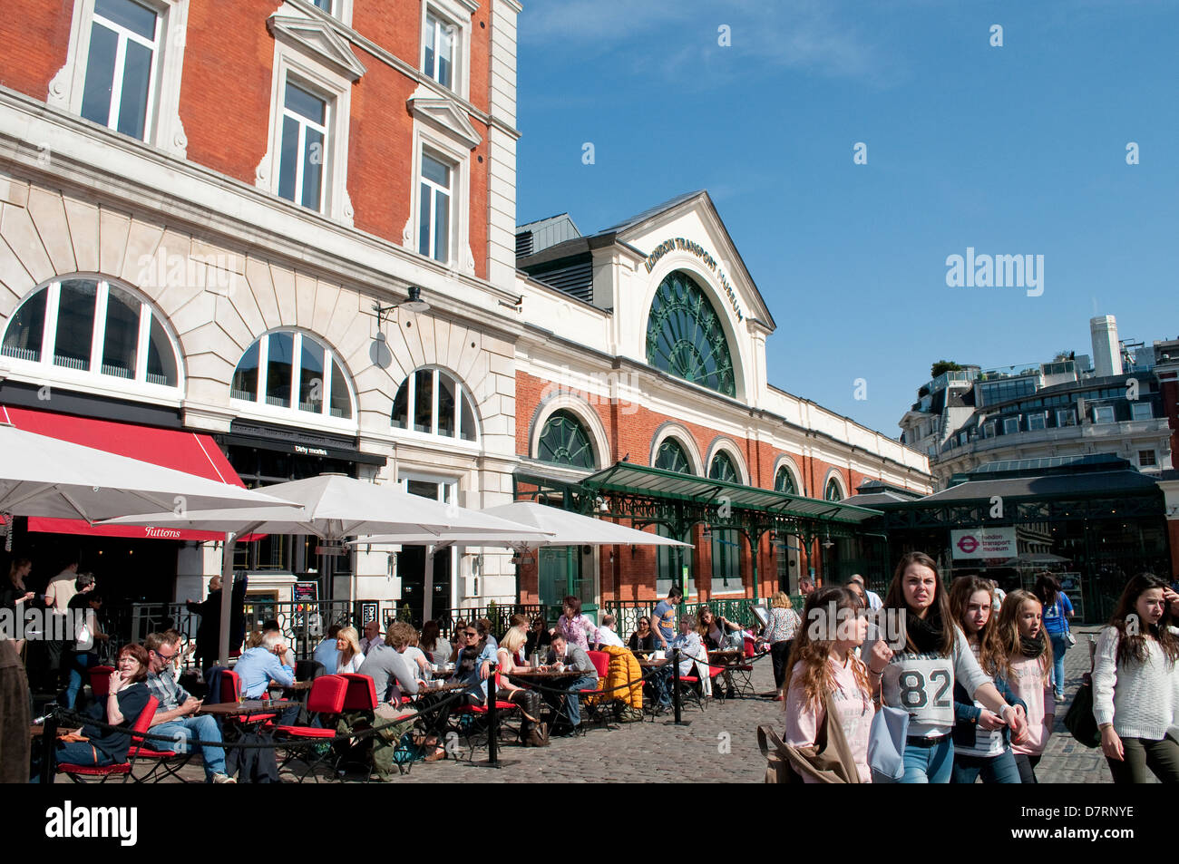 London museum cafe stock photos london museum cafe stock images outdoor cafe covent garden london uk stock image malvernweather Gallery