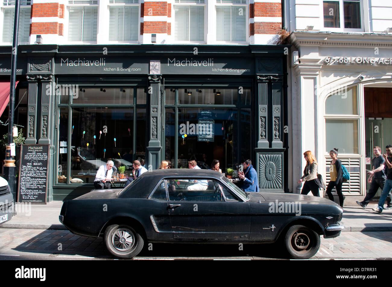 Machiavelli Restaurant In Long Acre Street Behind Old Mustang Covent Garden London UK