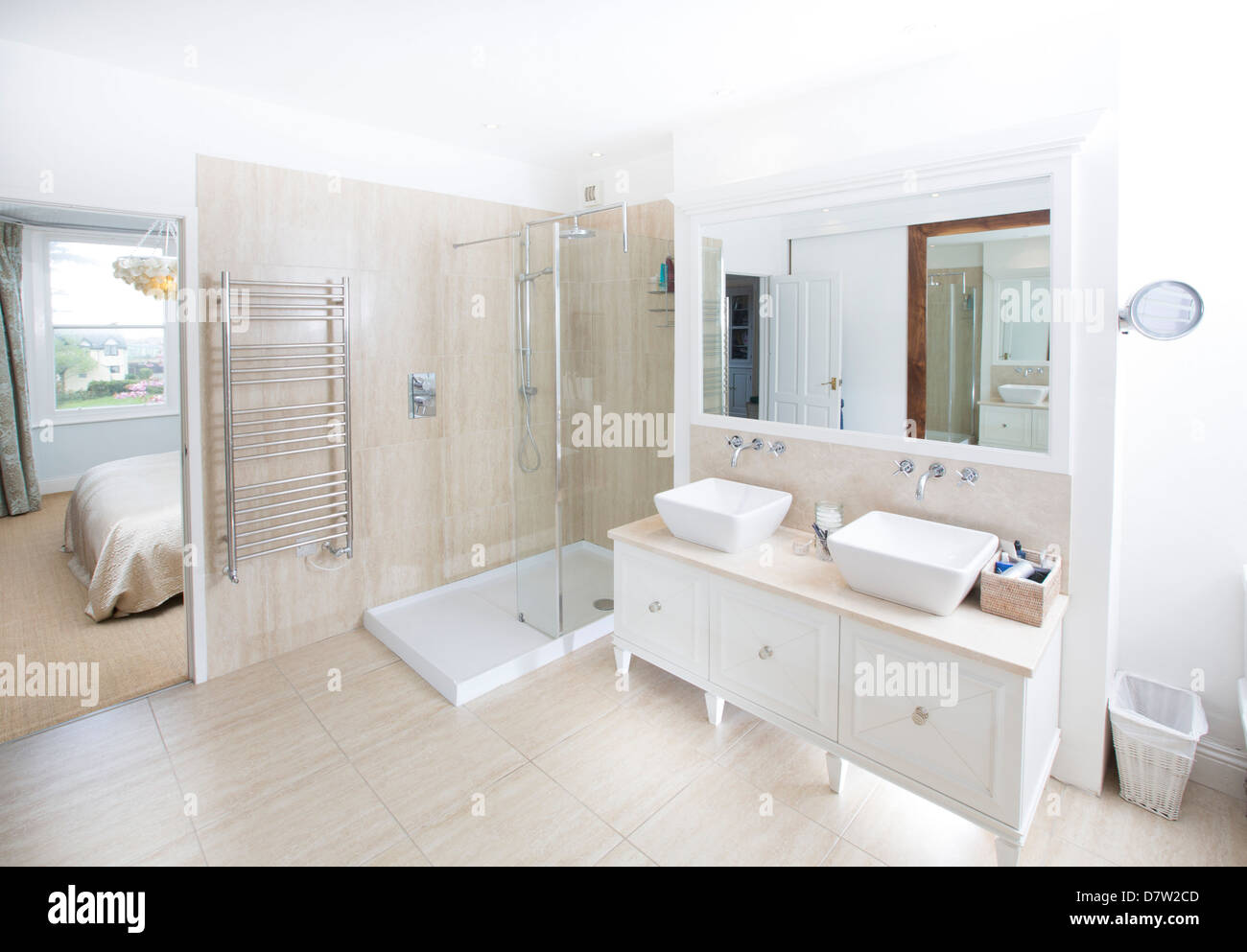 A Contemporary En Suite Bathroom Including A Walk In