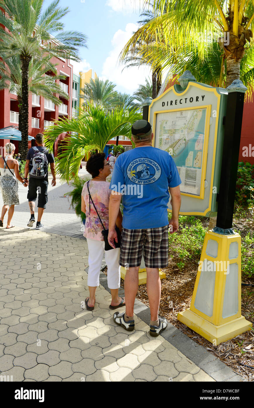 Visitors Study Map Willemstad Curacao Curaao Dutch Caribbean