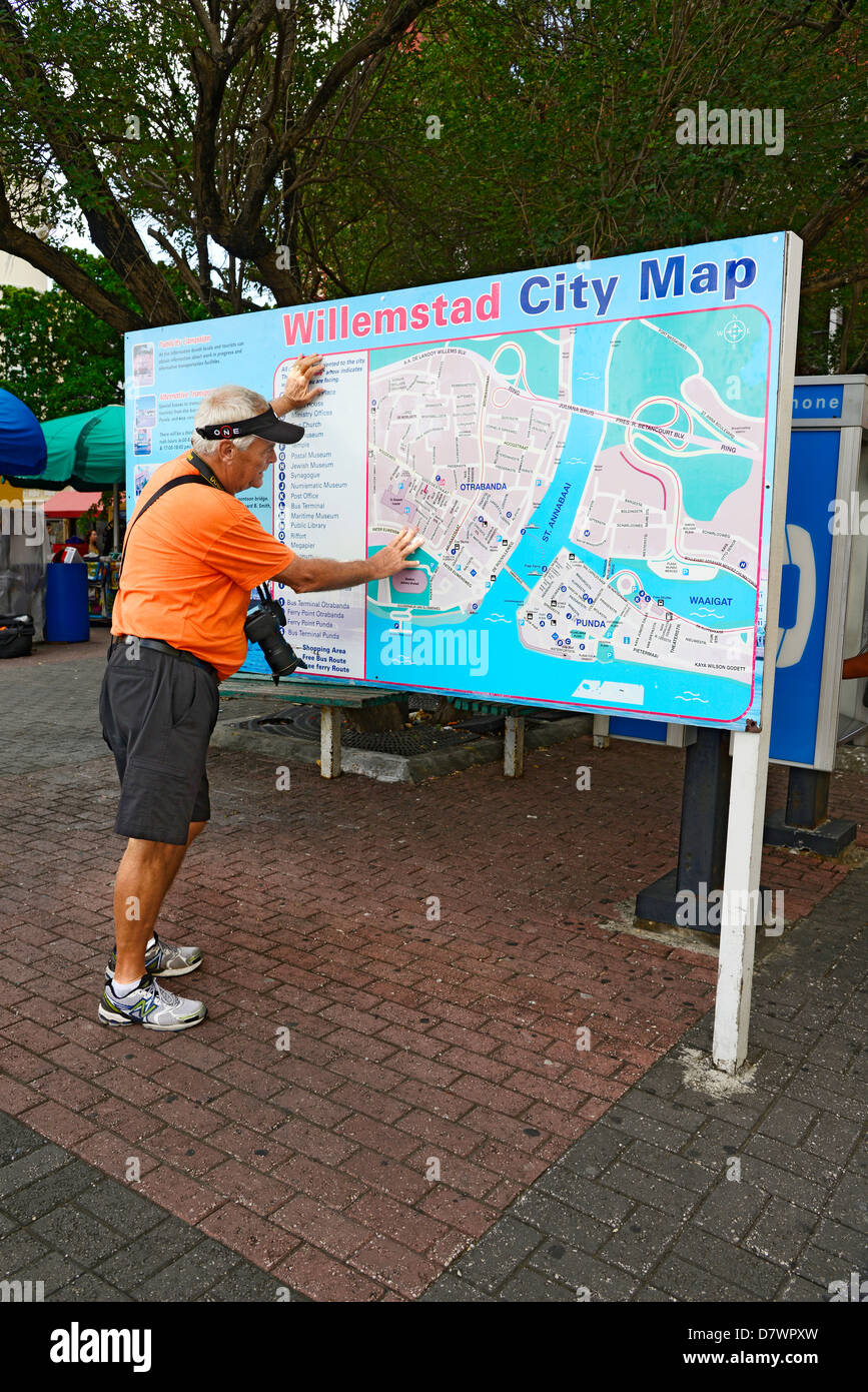 Visitor Studies City Map Willemstad Curacao Curaao Dutch