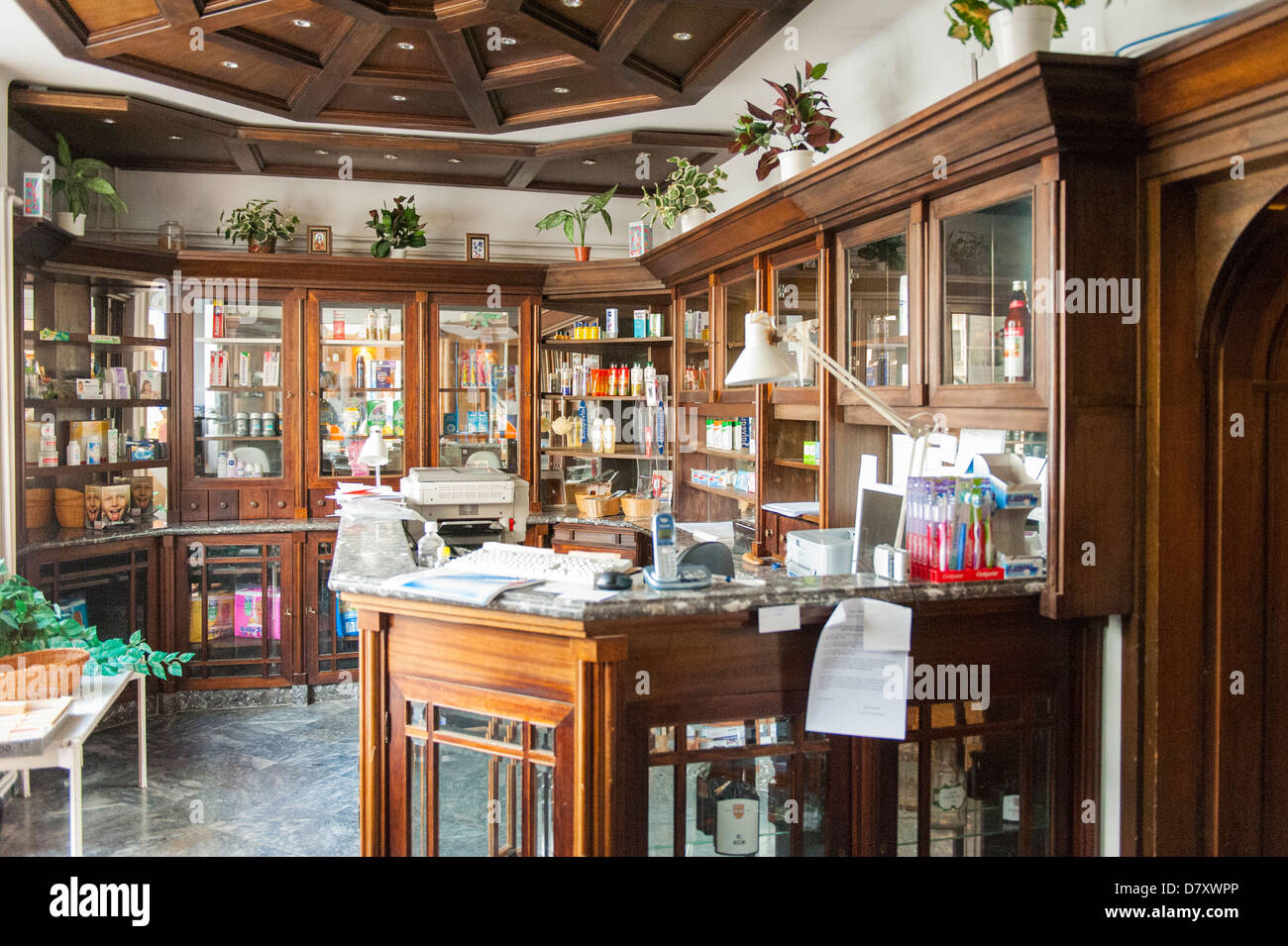 budapest , hungary , castle district , chemist pharmacy
