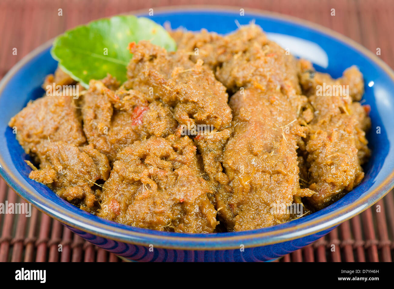 Rendang Daging Dry Beef Curry With Coconut Milk And Spices Traditional Indonesia Malaysian And Singaporean Dish