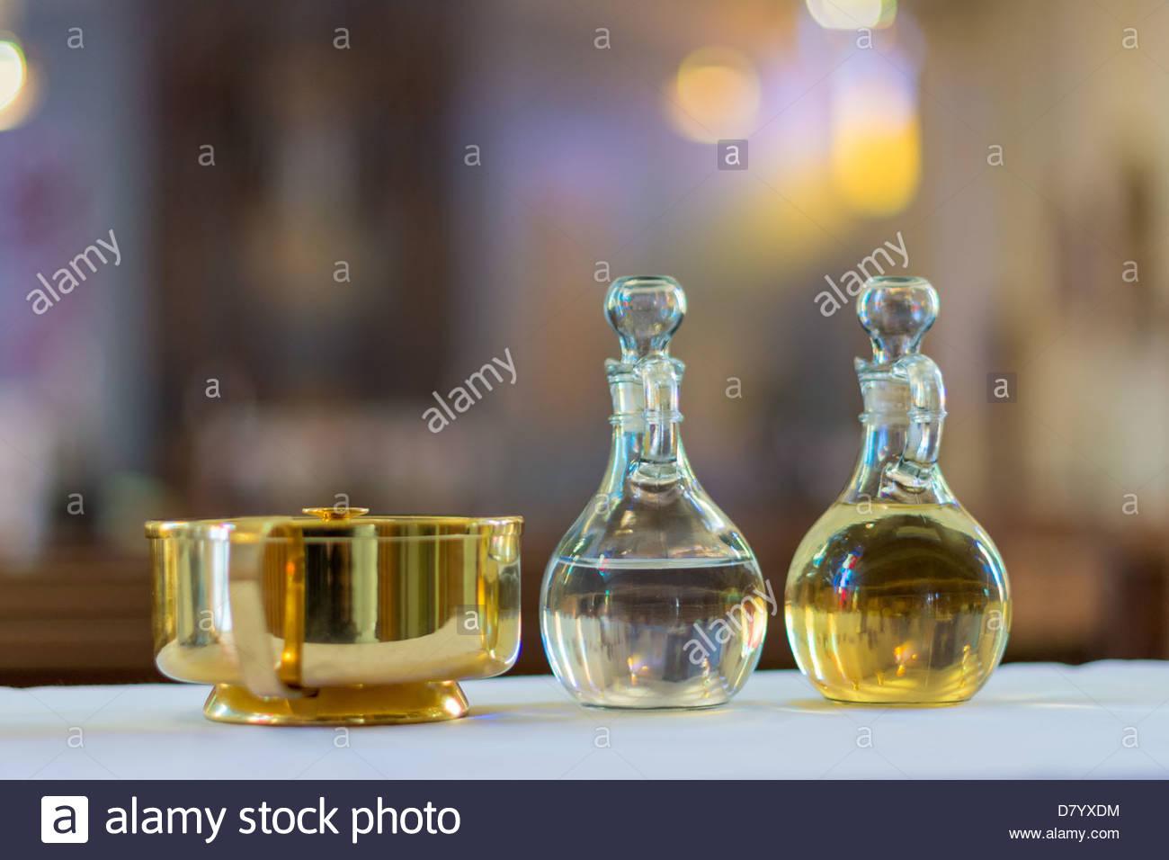 Symbols of the traditions of a catholic church holy water and oil symbols of the traditions of a catholic church holy water and oil for unction buycottarizona