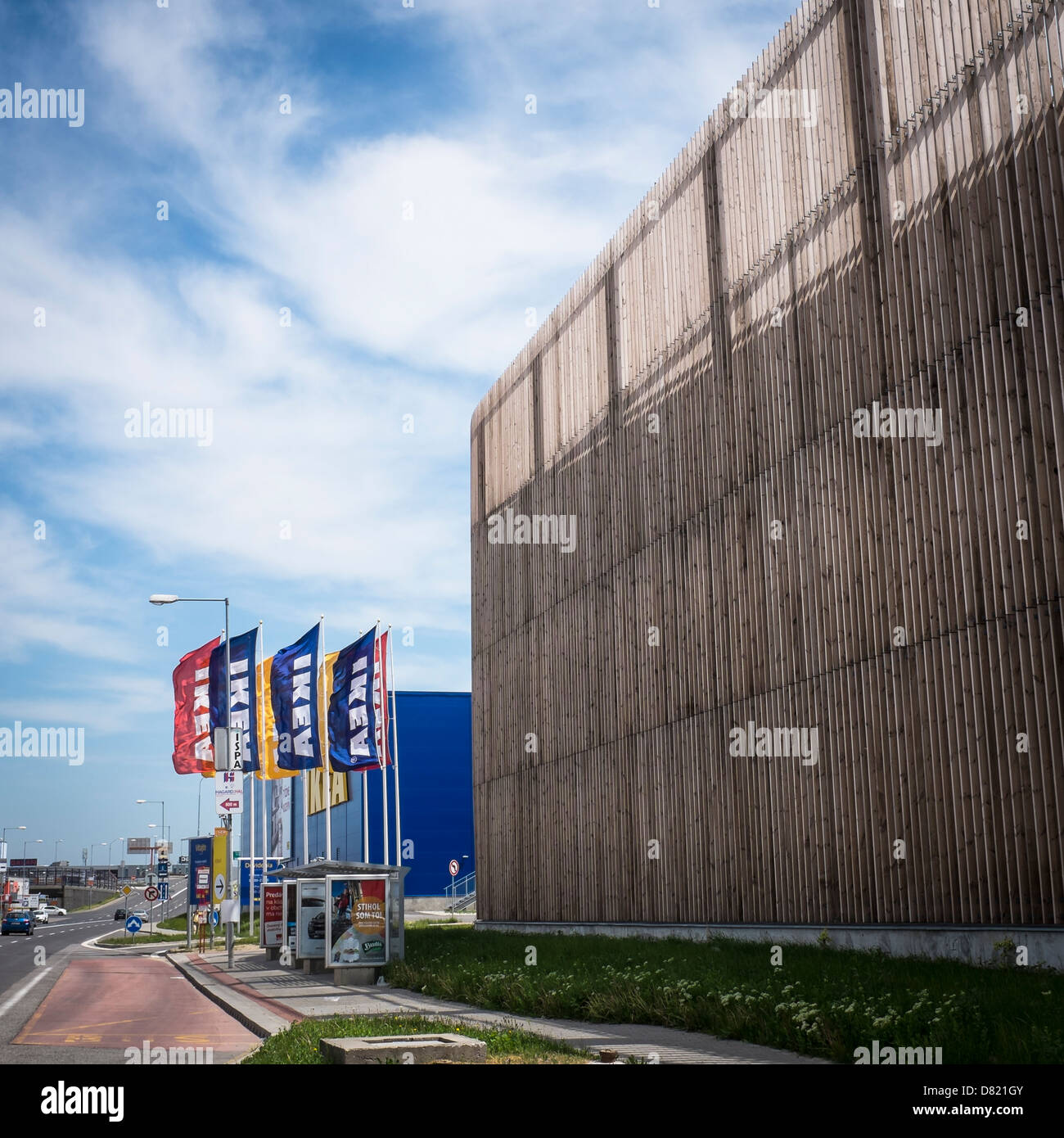 simple ikea shopping mall in bratislava parking house with a wood facade with facade ikea. Black Bedroom Furniture Sets. Home Design Ideas