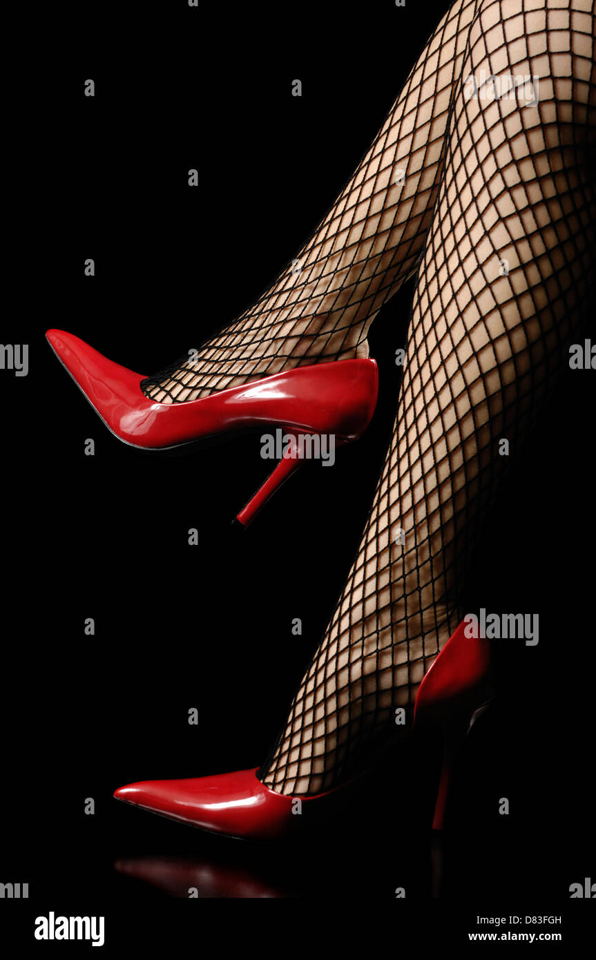 Shiny Red High Heel Shoes