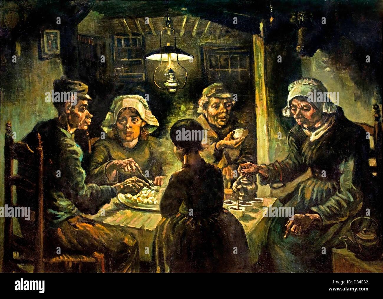 The potato eaters 1885 realism vincent van gogh 1853 1890 dutch stock photo royalty free - Van gogh comedores de patatas ...
