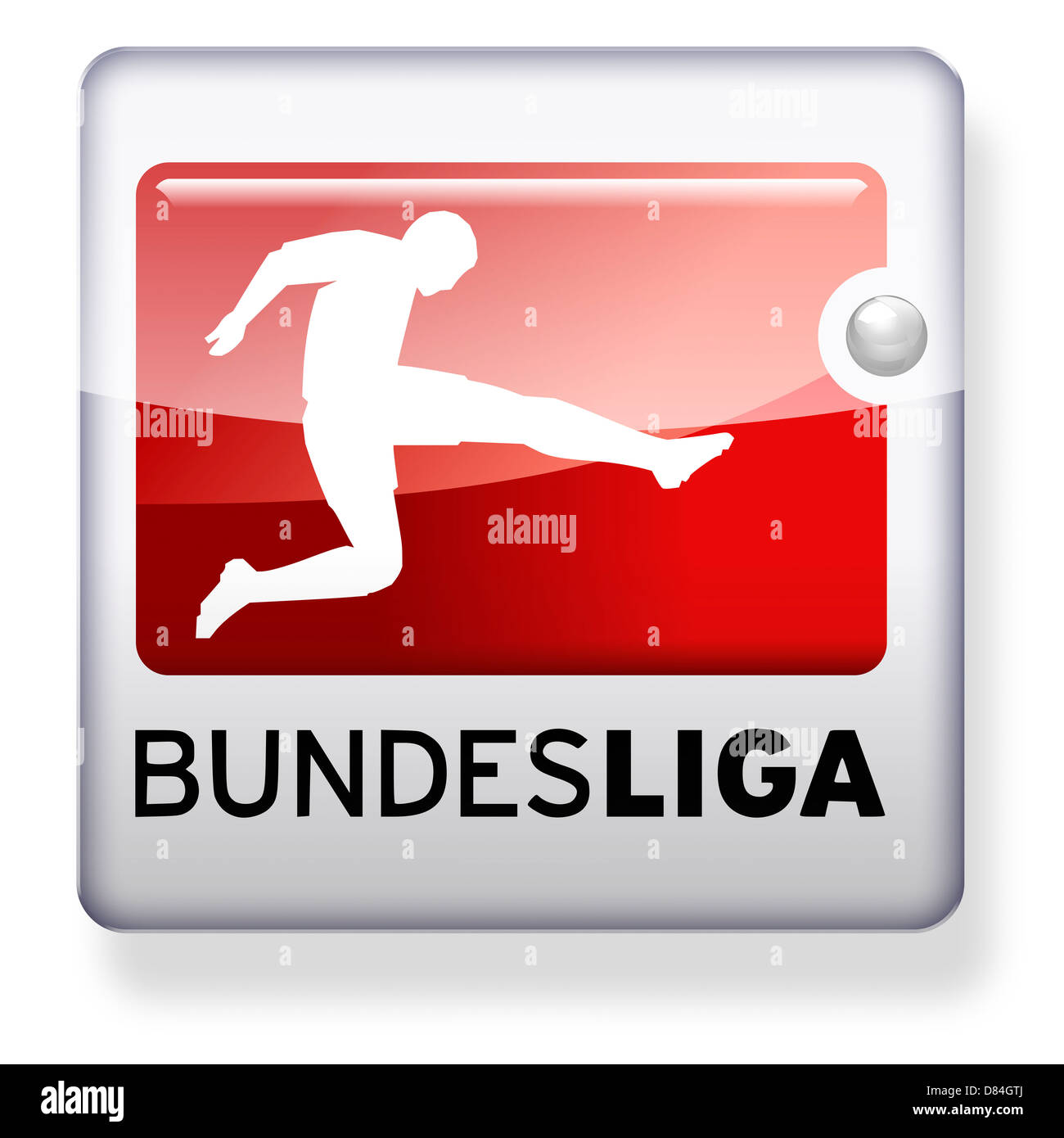 Bundesliga logo as an app icon clipping path included for Bundesliga videos
