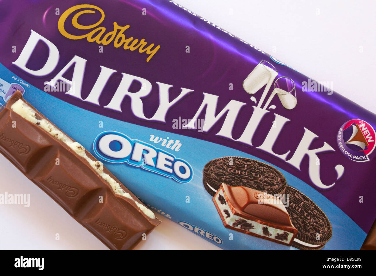 A bar of Cadbury's chocolate broken up into many pieces Stock ...