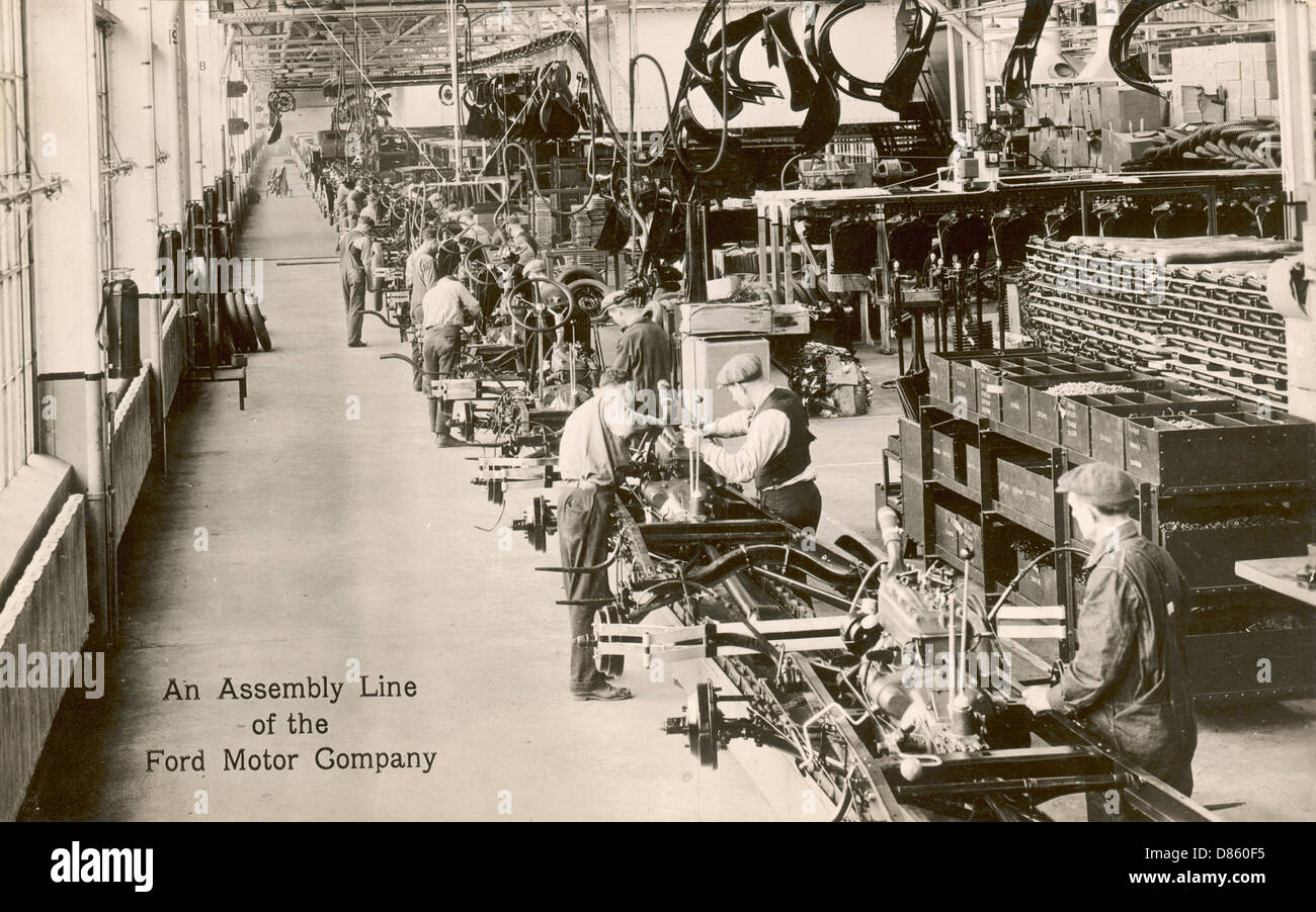 Assembly Line For Cars Ford Motor Company Usa