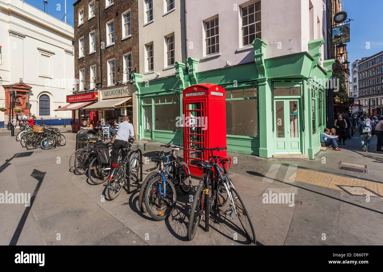 Covent Garden Daily City Life London England Uk Stock