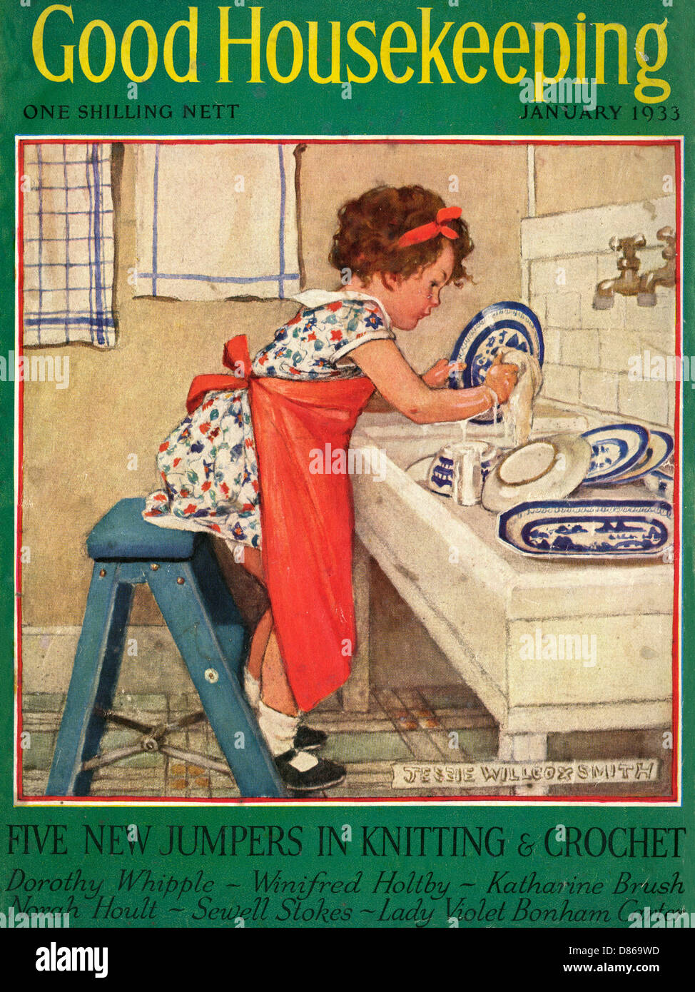 Good housekeeping front cover january 1933 stock photo for Good house magazine