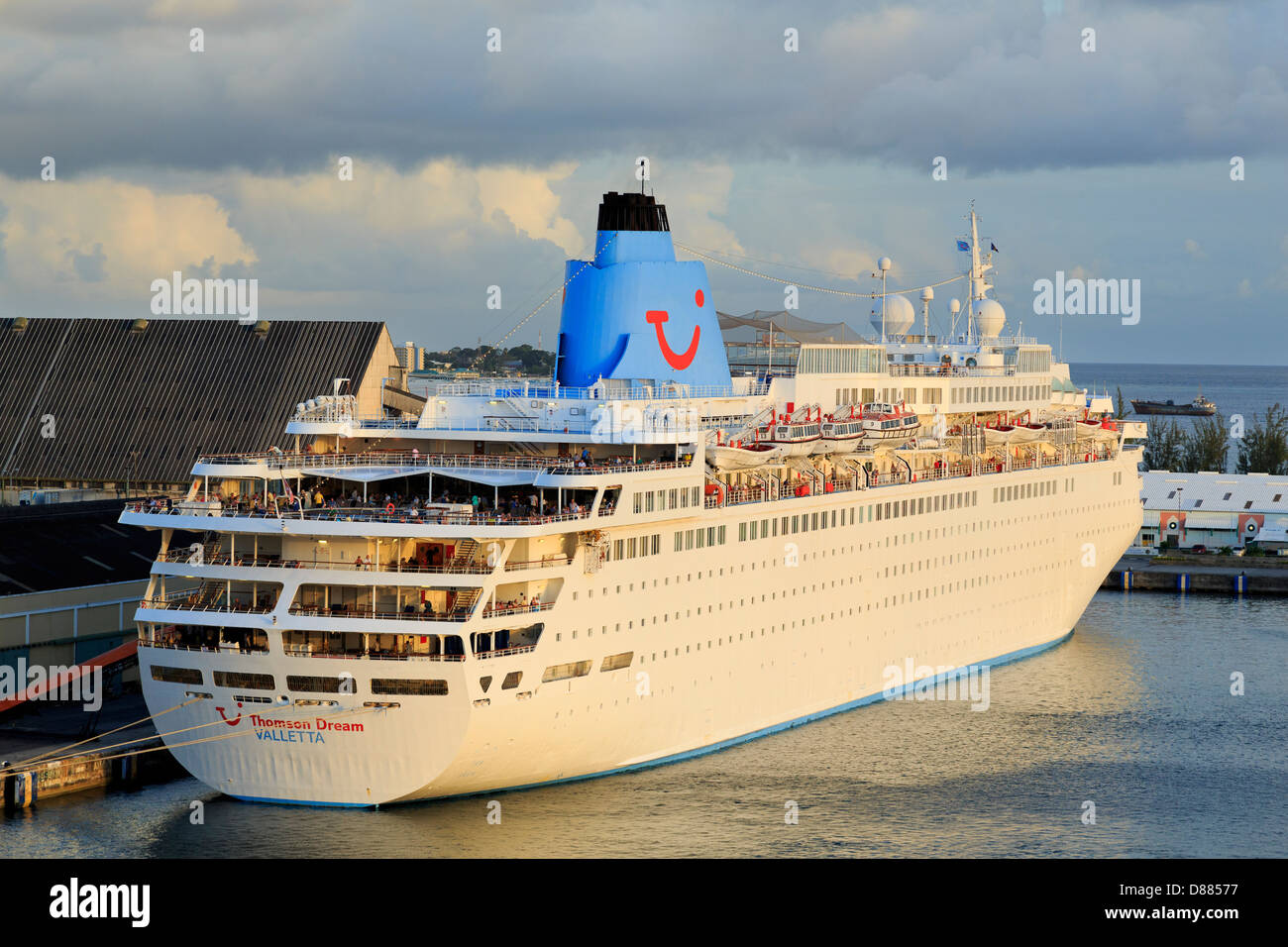 Thomson Dream Cruise Ship In Deep Water Stock Photo Royalty Free - The thomson dream cruise ship