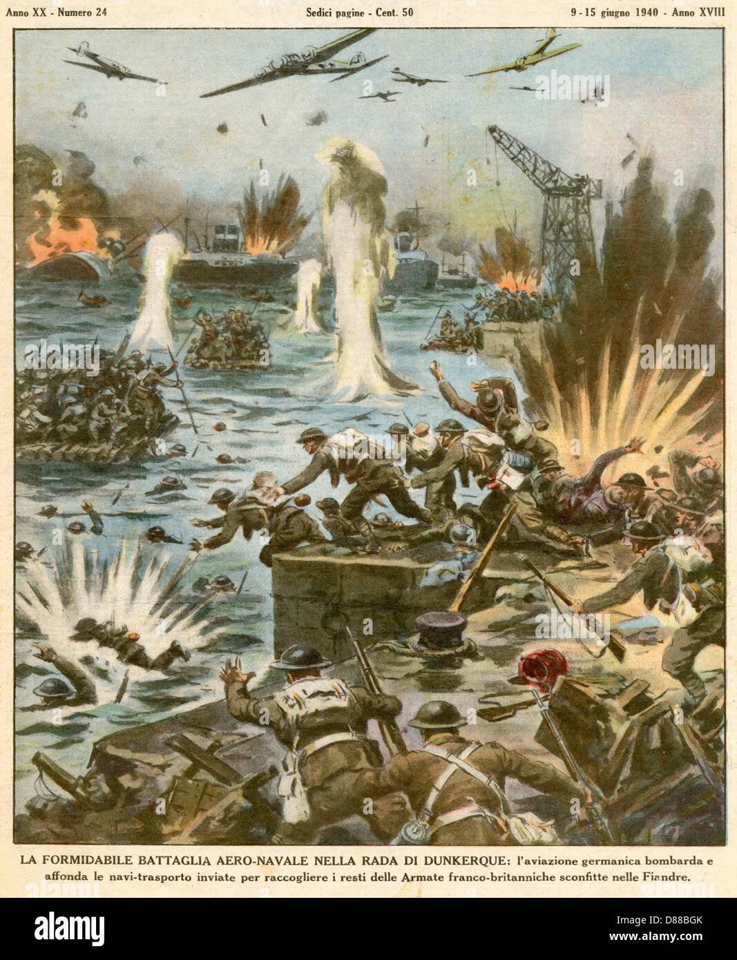 Dunkirk Evacuation Stock Photo, Royalty Free Image