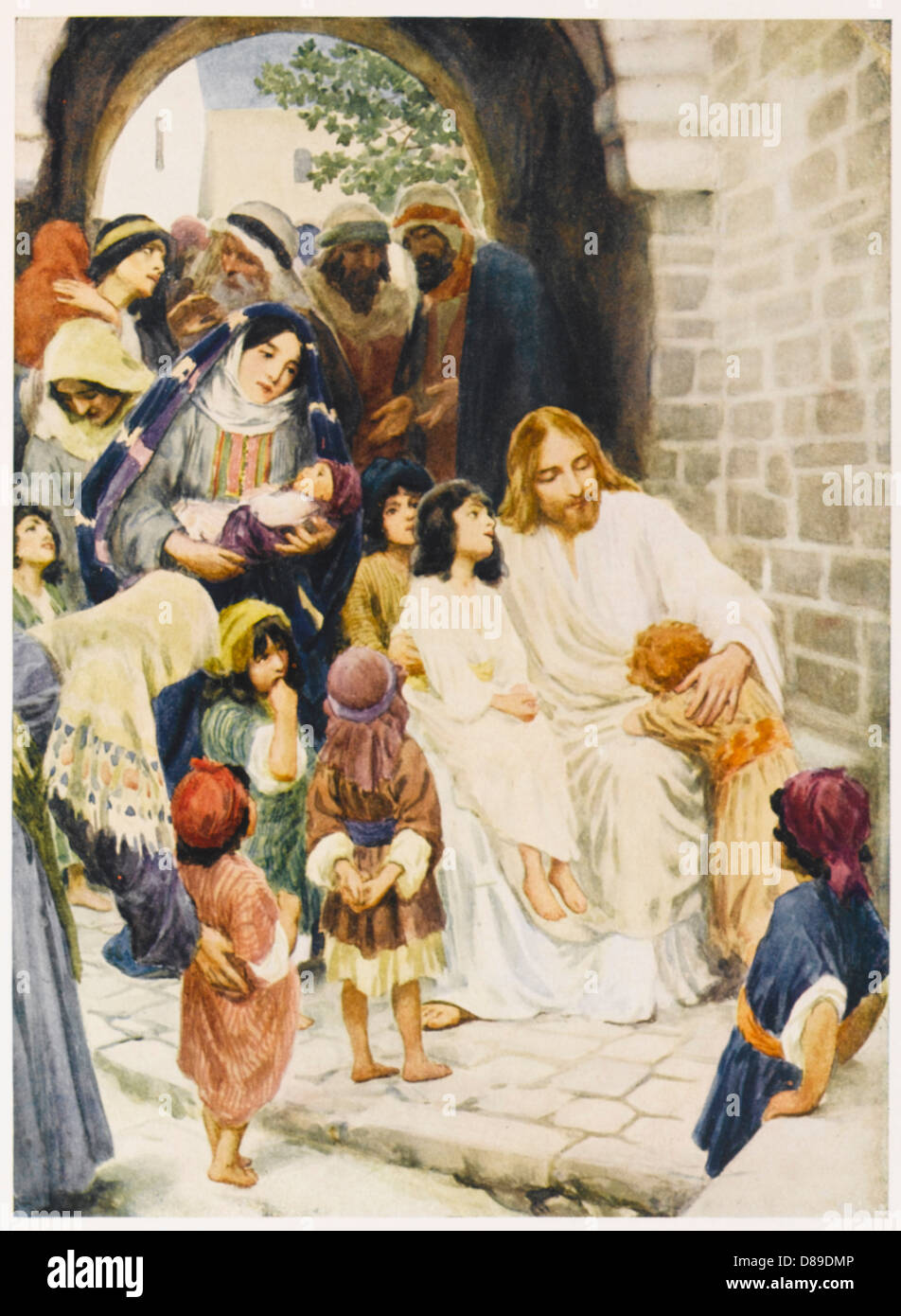 jesus and children stock photo royalty free image 56756694 alamy