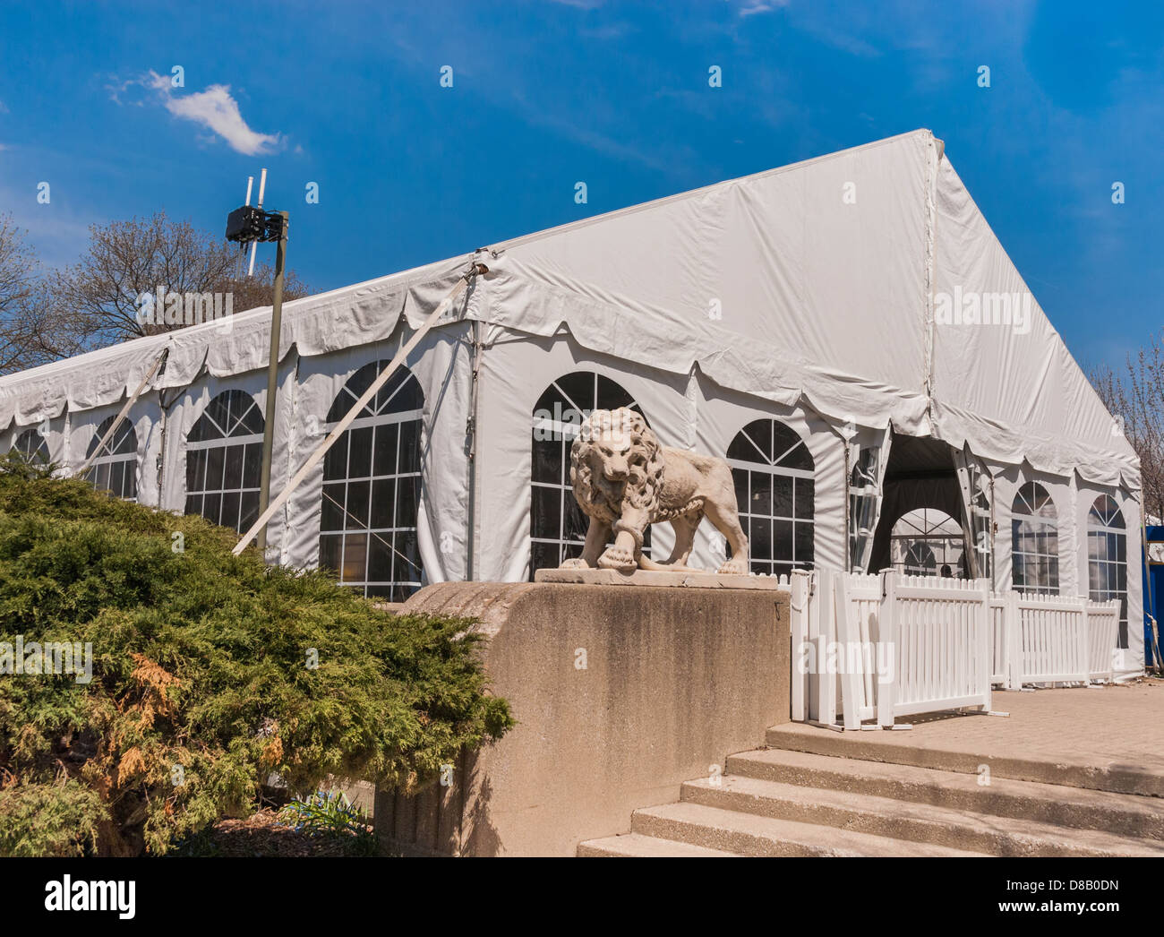Party Tent or a big white banquet wedding tent for ceremonies & Party Tent or a big white banquet wedding tent for ceremonies ...