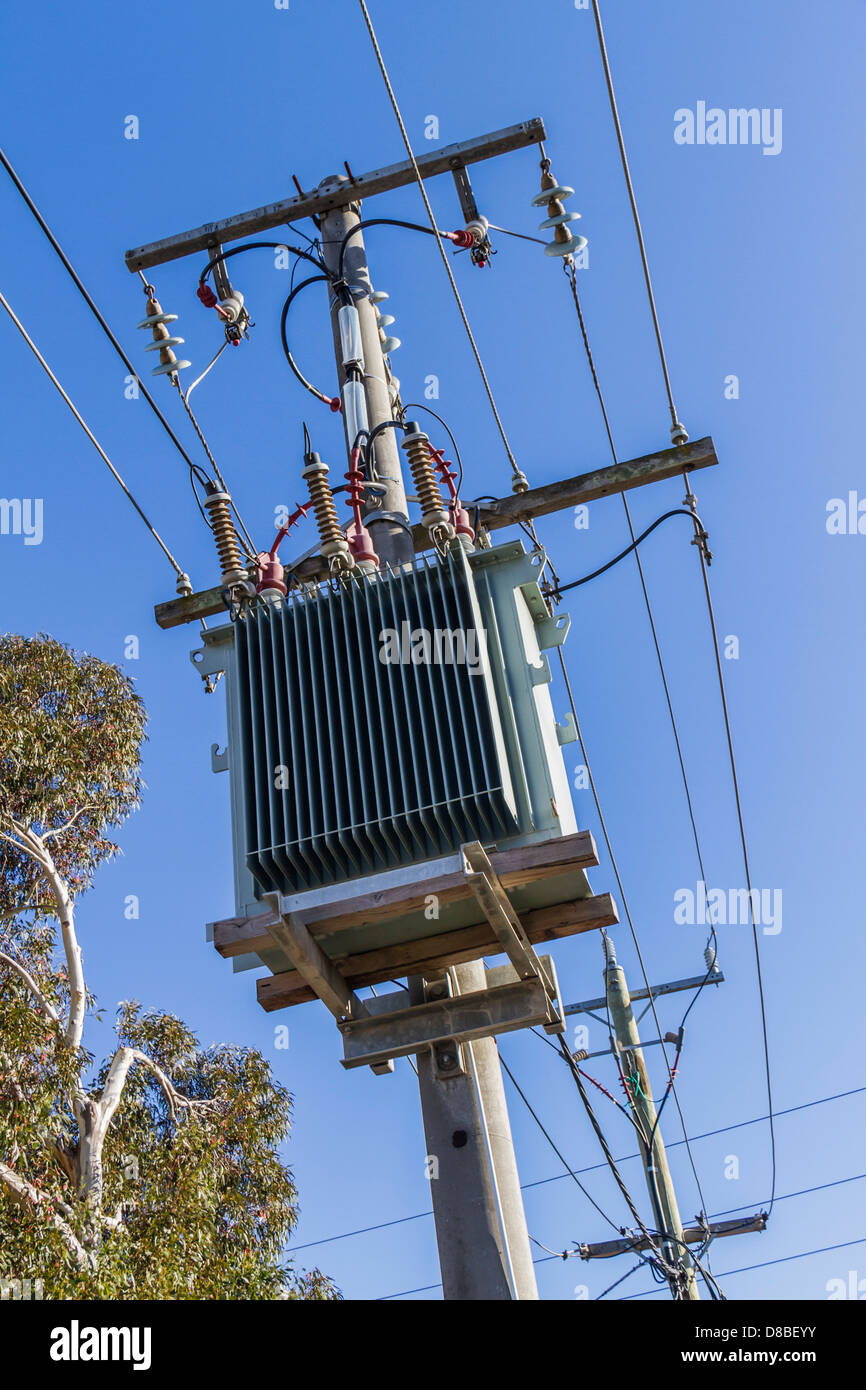 Three Phase Overhead Electrical Distribution Poles And