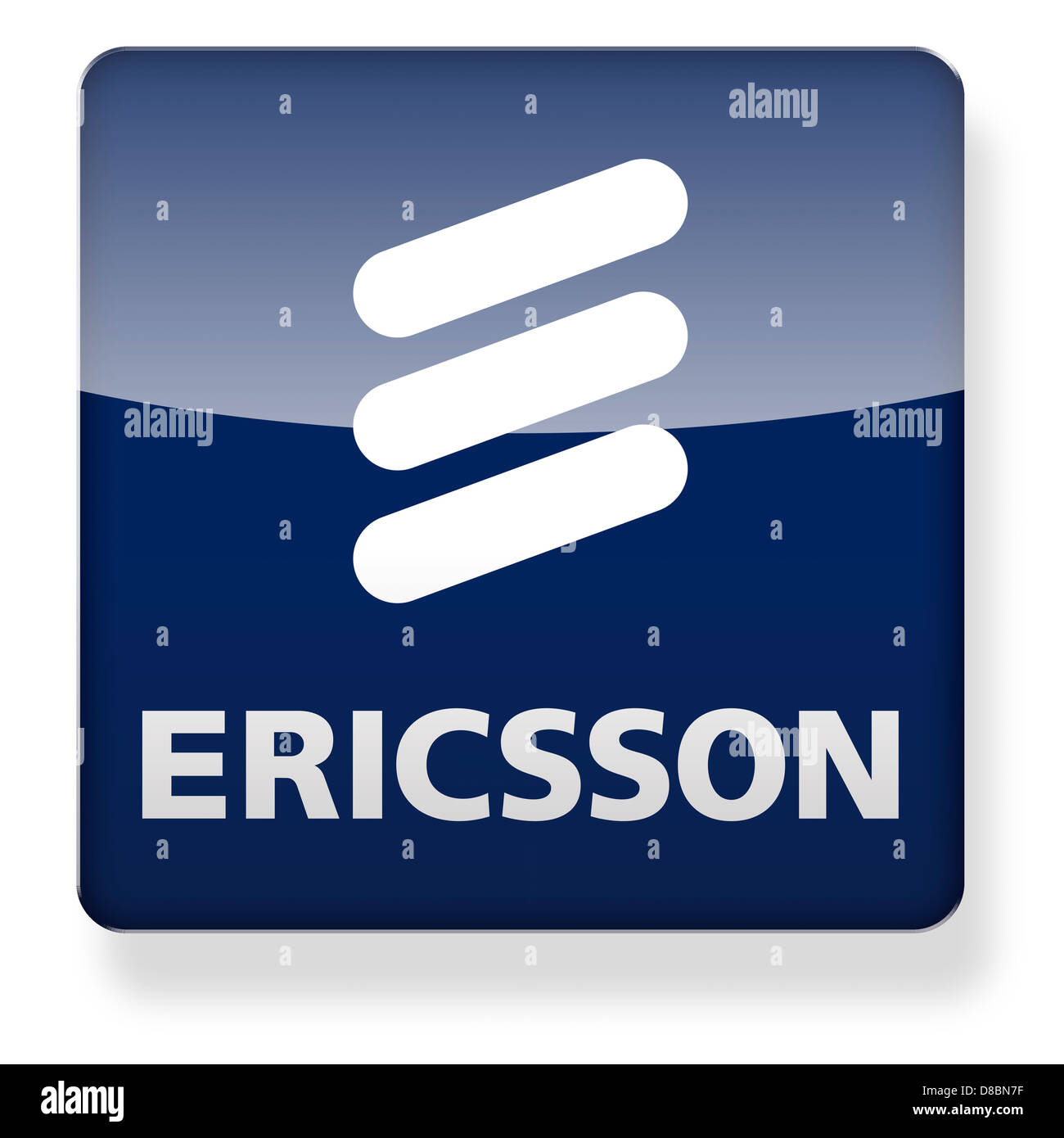 Ericsson Logo As An App Icon. Clipping Path Included Stock