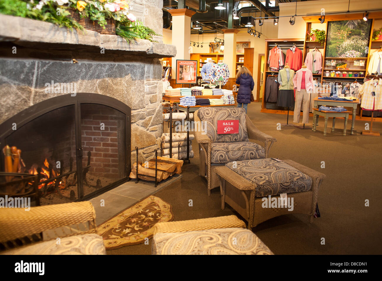the large rustic chic orvis store in manchester vt has