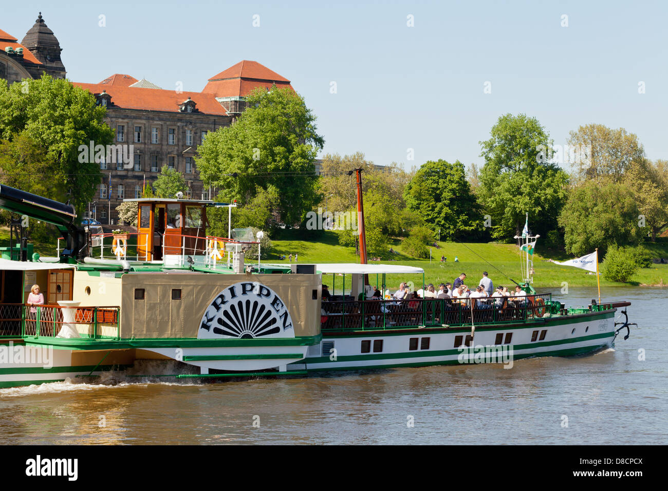 Dresden River Cruise Ship On The Elbe River Saxonia Germany - River cruise ships europe