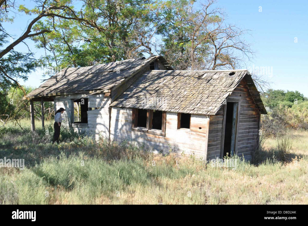 Old house wooden house in field Stock Photo, Royalty Free ...