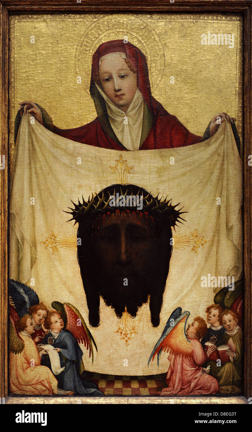 Master Of Saint Veronica German Painter Gothic Style St With The Holy Kerchief C1420